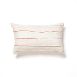 coral and natural ethiopian silk and cotton bolster maeree