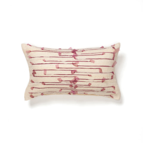 Organza ribbon moroccan wool cushion