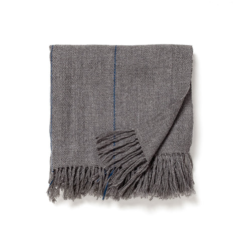 grey pinstripe throw maeree