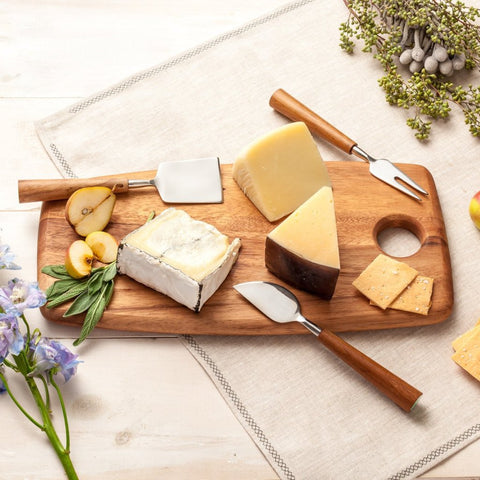 be home cheese board and cheese knives