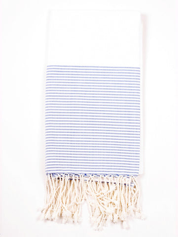 striped blue turkish towel at maeree