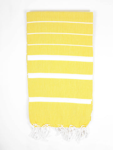 yellow ibiza turkish towel at maeree