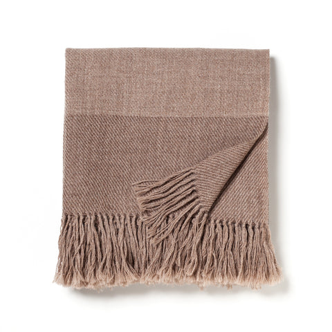 Taupe Alpaca Throw Blanket at maeree