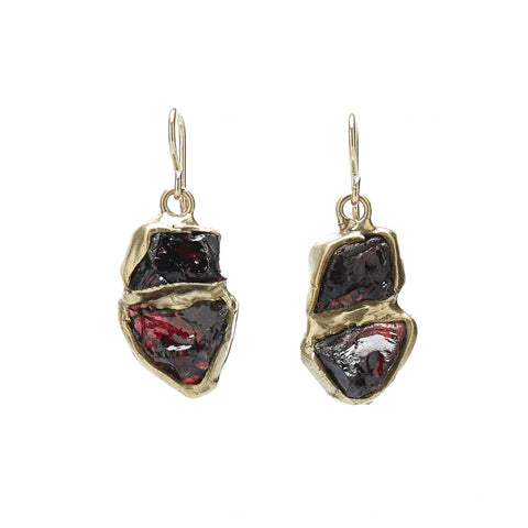 emilie shapiro seafaring garnet drop earring at maeree