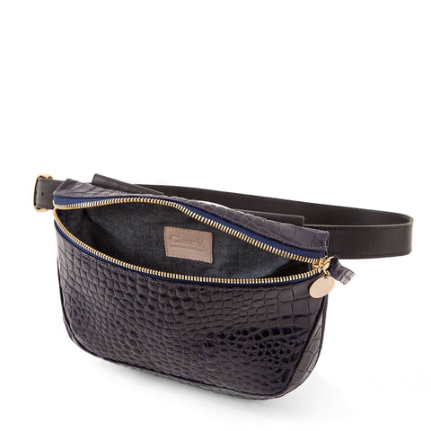 clare v midnight croco fannypack at maeree