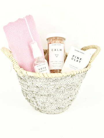 mother's day gift basket bath luxury herbivore maeree