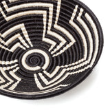 indego africa black and white plateau basket at maeree