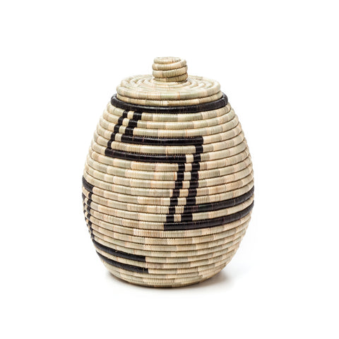 Indego Africa Lidded Basket at maeree