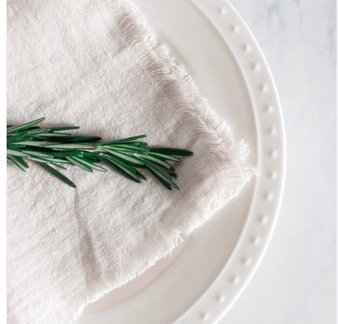 creative women washed linen napkins at maeree