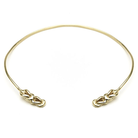 Odette lover's knot neck cuff at maeree