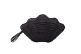kayu jane seashell clutch in black at maeree