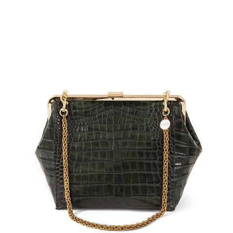clare v loden croc le big box bag at maeree