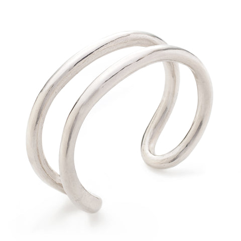 pico sterling silver oval wrap bracelet at maeree
