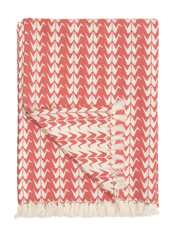Safomasi coral crane throw blanket at maeree