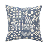 safomasi blue woven pillow at maeree