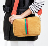 clare v marisol camel suede crossbody with desert stripes at maeree