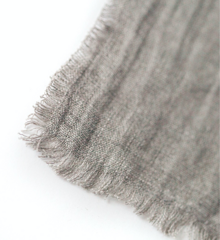 Washed Linen Cocktail Napkins - Oyster