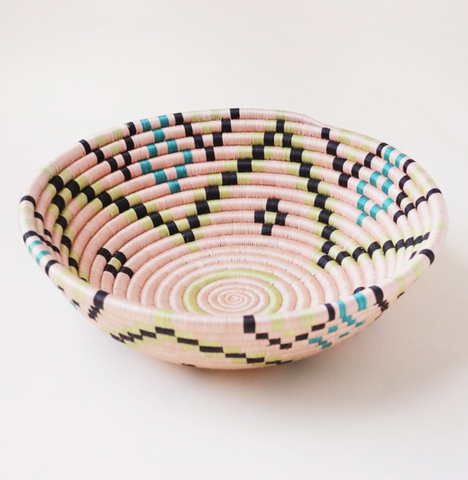 indego africa salmon floral plateau basket at maeree