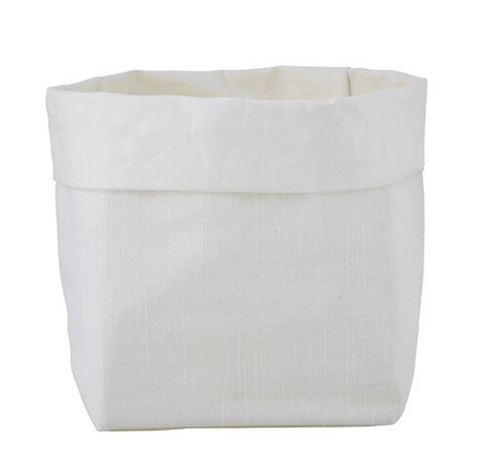 linen paper storage basket at maeree