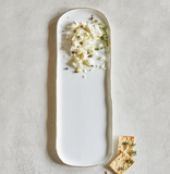 long ceramic and gold serving platter at maerree  Edit alt text