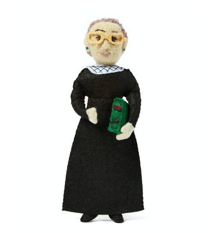 ruth bader ginsburg ornament at maeree