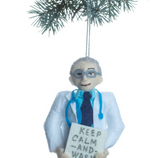 Dr Fauci christmas ornament at maeree