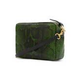 Clare V Fern Miro Snake Midi Sac crossbody at maeree