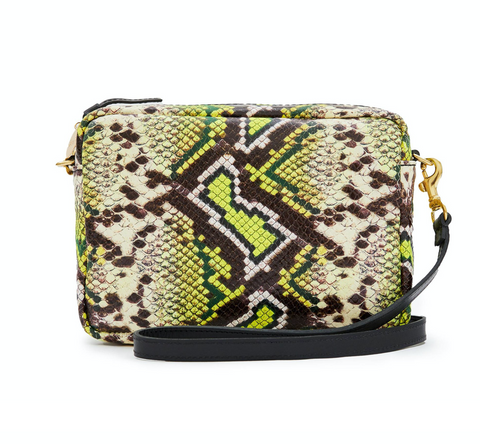 clare v yellow riviera snake midi sac at maeree