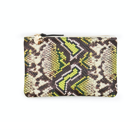 clare v yellow riviera faux snake wallet clutch at maeree