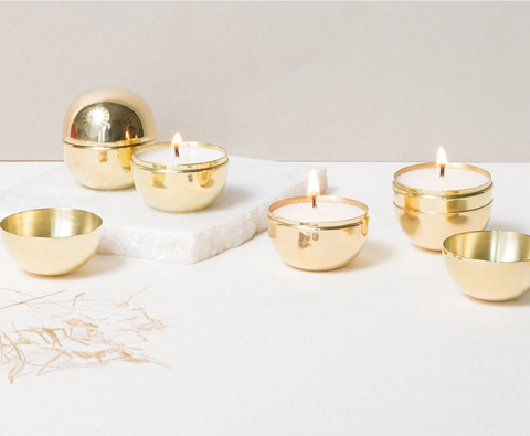 brass travel candle at maeree