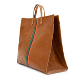 clare v simple tote miel rustic leather at maeree
