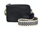 clare v black woven midi sac crossbody at maeree