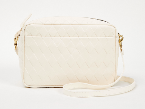 clare v marisol cream diamond leather crossbody at maeree
