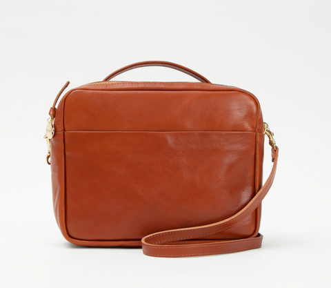Clare V Miel rustic leather mirabel crossbody at maeree
