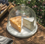 marble and glass cheese cloche at maeree