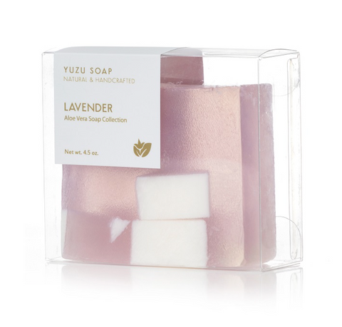 Yuzu Soap lavender aloe vera bar at maeree
