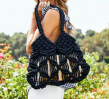 KAYU HARPER TOTE BLACK WOVEN CORD AT MAEREE