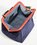 clare v le box bag blue suede at maeree