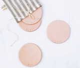 celina mancurti leather coasters at maeree