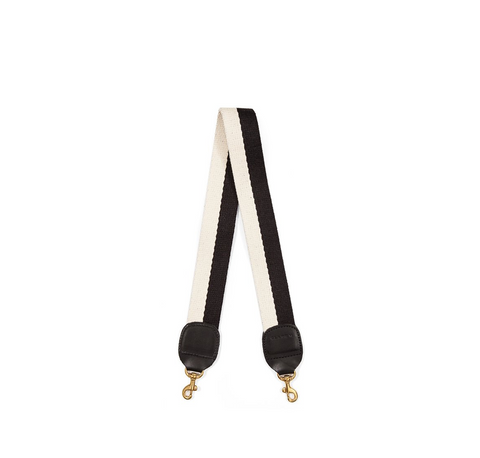 clare v black and white shoulder strap at maeree