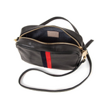 clare v black rustic stripe midi sac crossbody at maeree