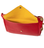 clare v clem pocket clutch in cherry red at maeree