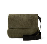 clare v army green suede helene handbag at mareee