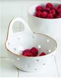 be-home stoneware colander basket at maeree
