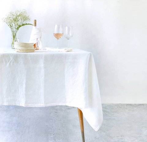 celina mancurti white linen tablecloth at maeree