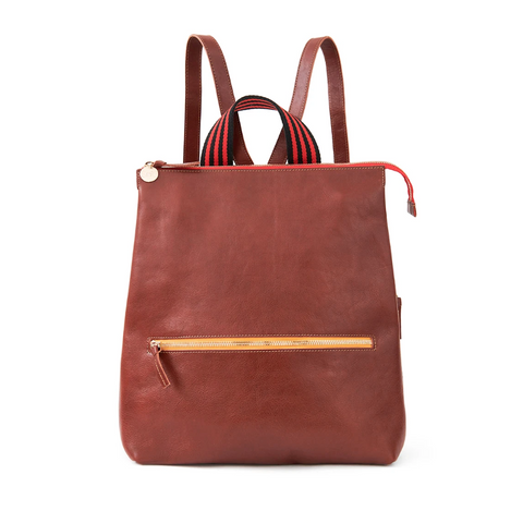 clare v remi backpack in mahogany at maeree