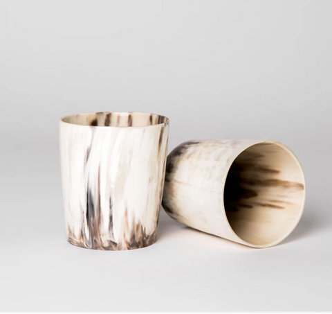 rose & fitzgerald ankole horn tumblers at maeree