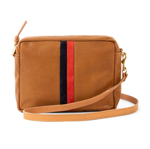 Tan Stripe Crossbody