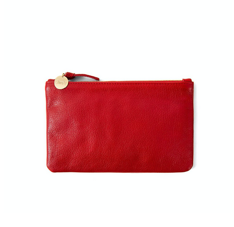 clare v cherry red wallet clutch at maeree