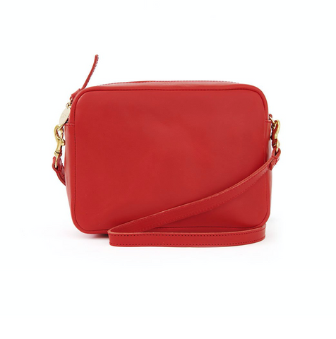 clare v cherry red midi sac crossbody at maeree